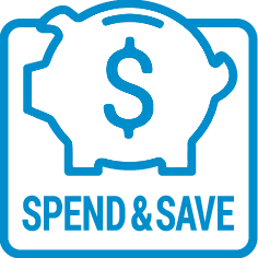 ICON spend save BLUE
